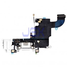 White/Gold Charging Port dock Microphone Headphone jack Flex Cable for Iphone 6S