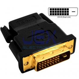 High Quality Male DVI-D DVI-I to Female HDMI Converter PC to TV/Projector Gold Plated