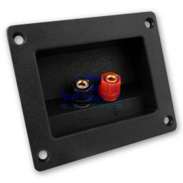 Square/Rectangle Recessed Speaker Binding Post Banana Terminal Plate for Sub-Woofer
