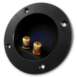 Round Recessed Speaker Metal Binding Post Banana Terminal Plate for Sub-Woofer