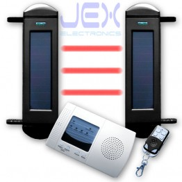 IR Break Beam Sensor Solar Powered Wireless Perimeter Security Alarm System Outdoor/in