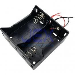 Twin/2X D DIY Battery Holder Case Box Base 3V Volt PCB Mount With Bare Wire Ends