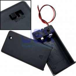 PP3 DIY Battery Holder Case Box 9V With Power Switch & Bare Wire Ends