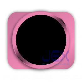 Black With Pink Trim iPhone 5S Style Look/Looking Home button for iPhone 5 or 5C