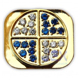 Crystal/Diamond Gold Home Button for Iphone 5 or 5C