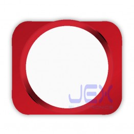 White With Red Trim iPhone 5S Style Look/Looking Home button for iPhone 5 or 5C
