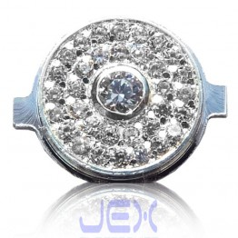 Crystal/Diamond Silver Home Button for Iphone 3G, 3GS, 4 or 4S