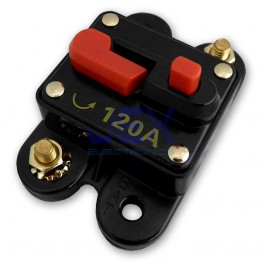 120 Amp In-Line Circuit Breaker Stereo/Audio/Car/RV 120A/120AMP Fuse 12V/24V/32V