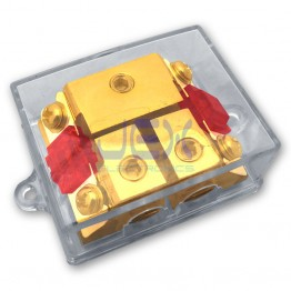 2-Way/2X AFS In-Line Fuse Holder Power Distribution Block Stereo/Audio/Car + Free AFS Fuses 10A-100A