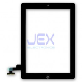 Black Glass Digitizer Touch Screen Full Front Assembly for iPad 2