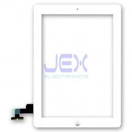 White Glass Digitizer Touch Screen Full Front Assembly for iPad 2