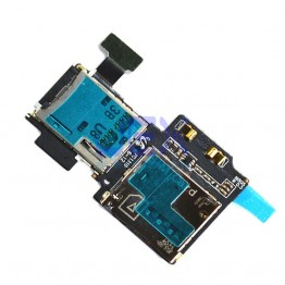 SIM/SD Card Tray Reader Flex Module For Samsung Galaxy S4
