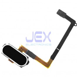 Black Home Button Fingerprint Sensor Flex Cable For Samsung Galaxy S6