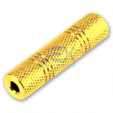 "Metal Female to Female Stereo or Mono 1/8"" 3.5mm Jack Audio Connector Coupl​er Gold Plated"