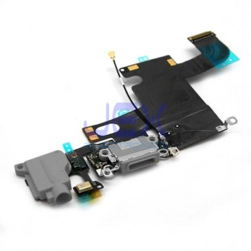 Space Gray Charging Port dock Microphone Headphone jack Flex Cable for  Black Iphone 6