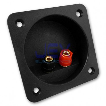 Round/Square Recessed Speaker Binding Post Banana Terminal Plate for Sub-Woofer