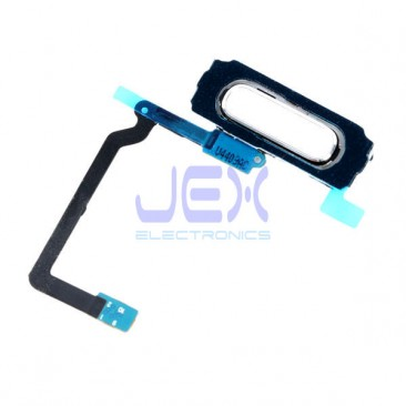 White Home Button Fingerprint Sensor Flex Cable For Samsung Galaxy S5